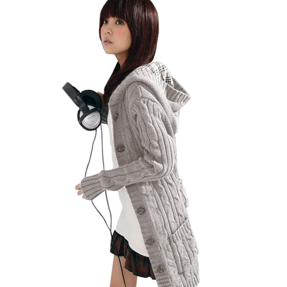 Women Long Sleeve Autumn Winter Warm Sweaters <font><b>Knitted</b></font> Cardigan 2016 Fashion Loose Sweater Female Outwear Jacket Coat With Belt