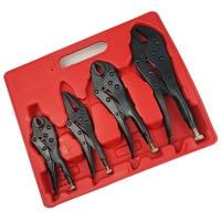 4pcs power clamping tool multifunctional practical hand vise set of Blackening heat treatment steel  labor-saving tool