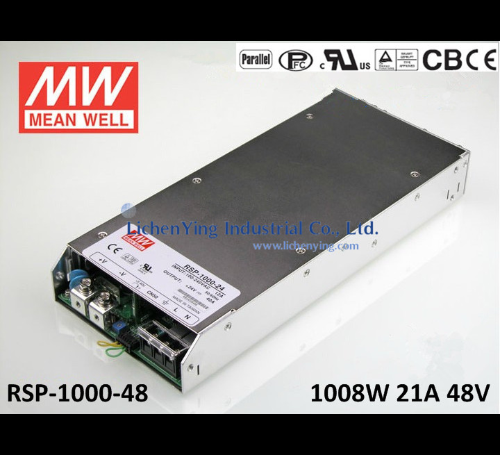 Programmable 1008W 48V 21A RSP-1000-48 Meanwell AC-DC Single Output RSP-1000 Series MEAN WELL Switching Power Supply