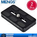 "MENGS 2Pcs per pack PU70S Camera Quick Release Plate 1/4"" Screw For Camera Tripod Ball Head(14010007701)"