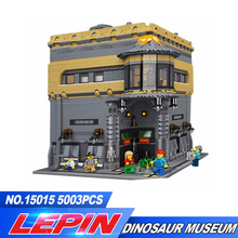 DHL LEPIN 15015 5003pcs City Creator The dinosaur museum MOC Model Building Kits Brick Toy Compatible