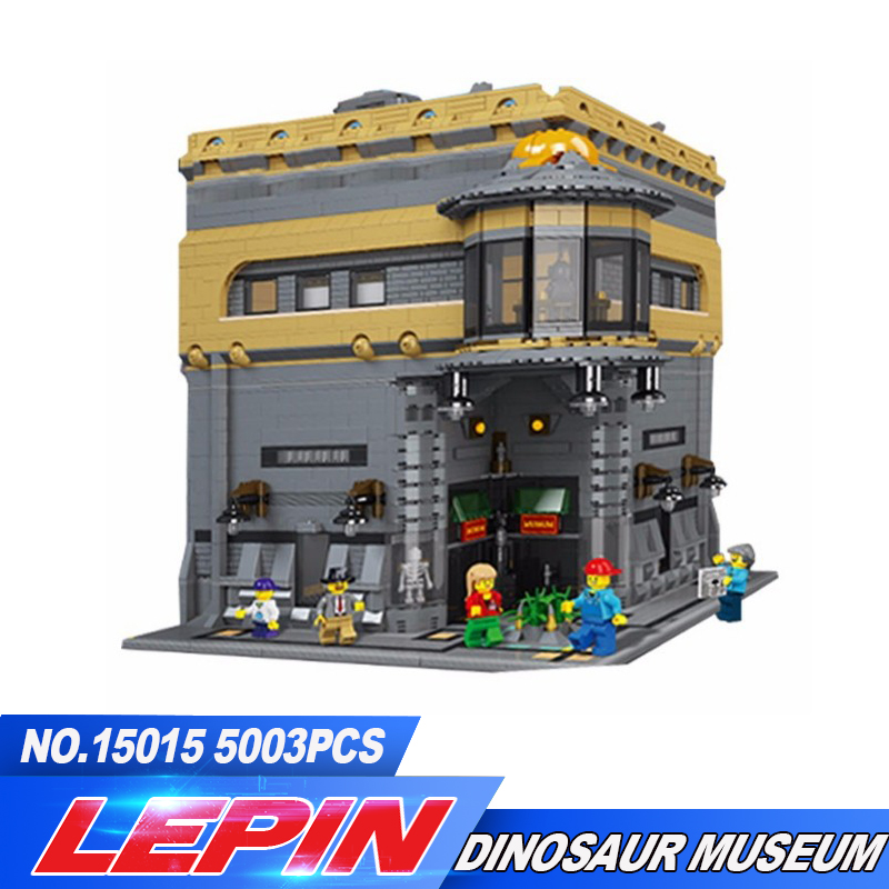 NEW LEPIN 15015 5003pcs City Creator The dinosaur museum MOC Model Building Kits Brick Toy Compatible Christmas gifts lepin 15015 5003 stucke stadt schopfer der dinosaurier museum moc modellbau kits ziegel spielzeug kompatibel weihnachtsgeschenke