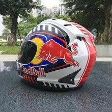 Мотоциклетный шлем новые оригинальные cascos para hombre осенне-зимние теплые Полнолицевые шлемы