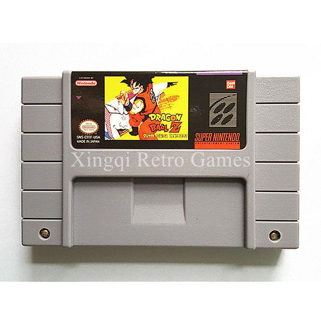 Super Nintendo SNES Dragon Ball Z Super Saiya Densetsu Video Game Cartridge Console Card English Language NTSC US Version