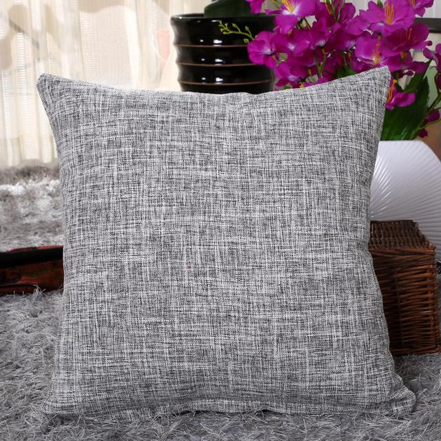 5 Size Decorative throw pillow case solid colorful cotton linen Simple and stylish cushion cover for sofa home almofadas