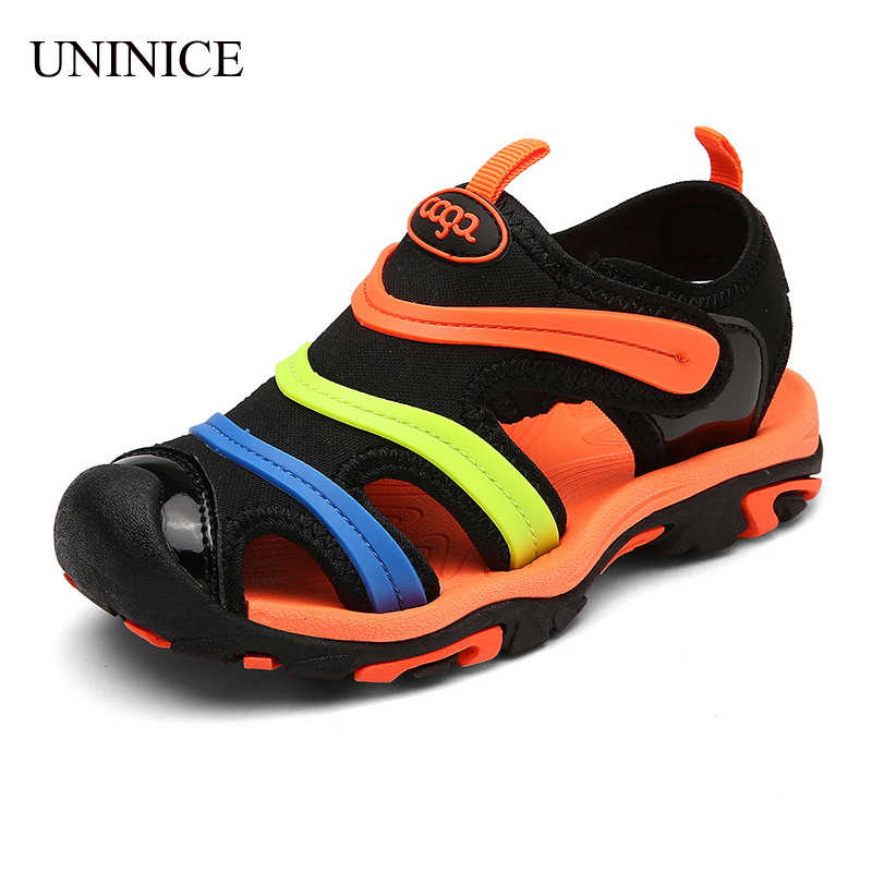 UNINICE Children Beach Sandals Summer 2017 New Fashion Kids Sandals for Girls Boys Non-Slip Shoes Breathable Children Shoes