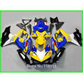 Injection fairing kit for SUZUKI K8 GSXR 600 750 2008 2009 2010 yellow blue Corona fairings set GSXR600 GSXR750 08 09 10 R868