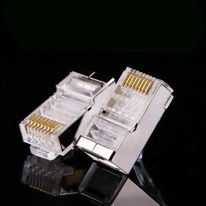 Image 2 - 100x Gigabit CAT6 RJ45 Network Shielded Connectors Ethernet Cable Corrosion Resistance Plug Heads