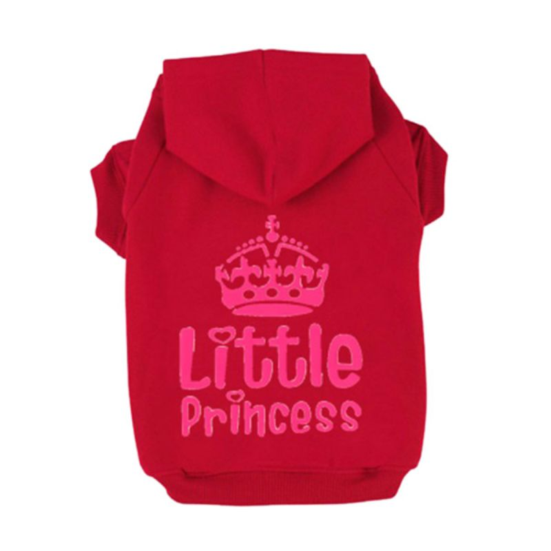 New Pet Doggy Clothes Princess Cute Winter Clothing Crown Printed Cats Jacket Hoodie Sweater Apparel For Small Size Dogs