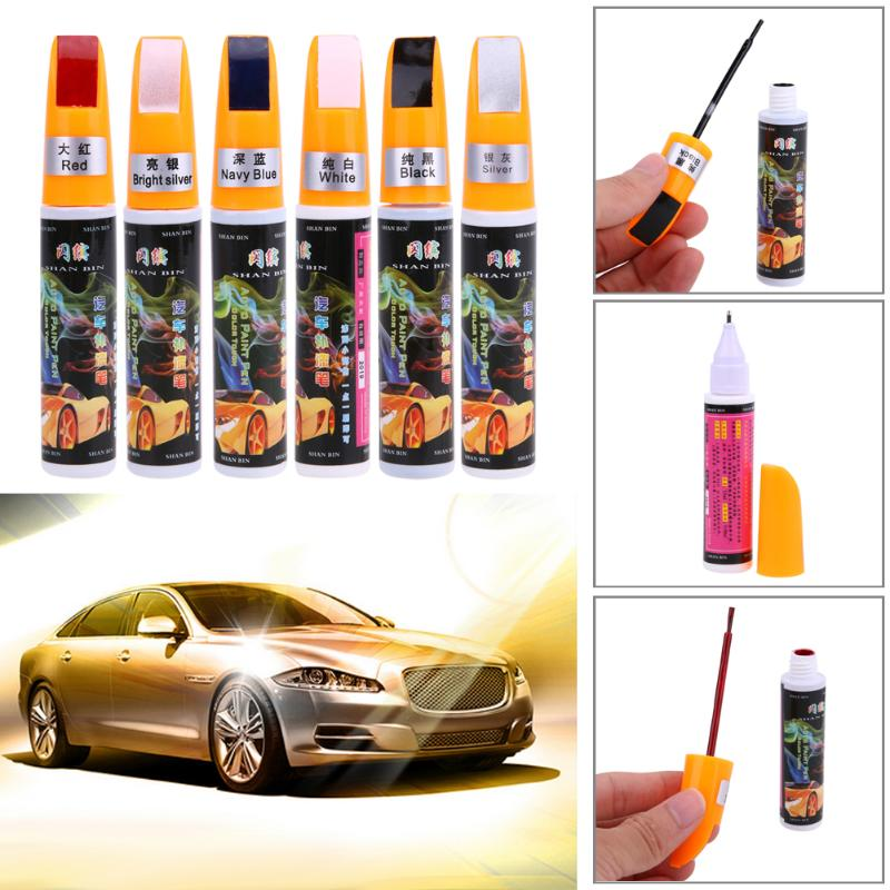 Car Coat Paint Liquid Pen Pro Auto Touch Up Scratch Remover Mend Repair Tool Fix It Accessories Black/White/Blue/Silver/Gray New