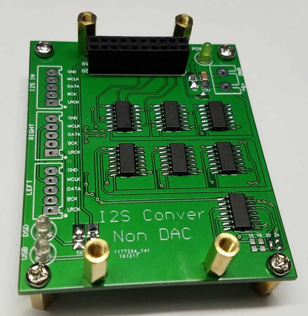 NOS DAC/I2S Format NOS Decoder Shifter Board and I2S Data Conversion Right  Alignment Format