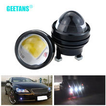 GEETANS 1 pair 15W Daytime Running Light 12V Super Bright LED Light Eagle Eye DRL Car Lights Waterproof Parking Universal CB