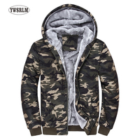 Winter Men Camo Hoodies Tracksuits Men S Hooded Fleeces Male Warm Thick Sweatshirt Camouflage Hoodies Plus