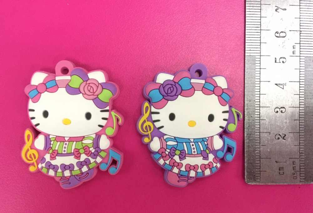 2 pçs/lote Olá Kitty Original Japonês anime figura borracha de Silicone cheiro doce encantos do telefone móvel/corrente chave/cinta G774