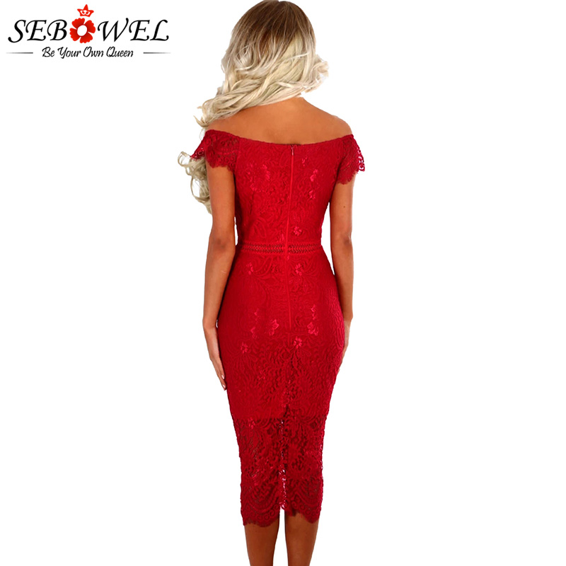 Red-Lace-Bardot-Midi-Dress-LC61975-3-2