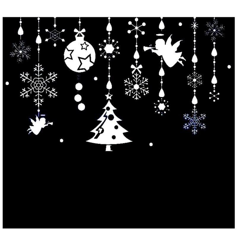 Charm pendants wall sticker creative DIY Christmas home decor decals for living room market shop window decoration