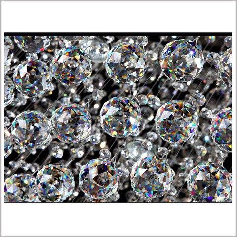 de cristal facetado bola pendurado gotas