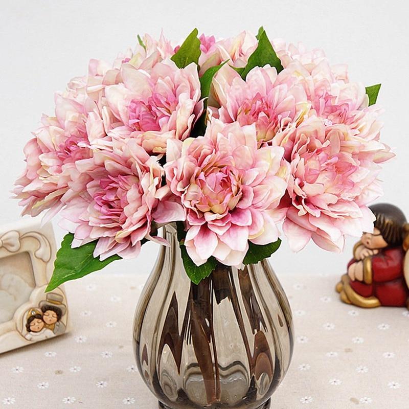 Www Afloral Com Silk Wedding Flowers: Silk Flower Wedding Bouquet Roses Dahlias Artificial