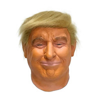 2019 Hot Selling High Quality Rubber Mask Realistic Box Gift Party Halloween Dress Latex Donald Trump Mask