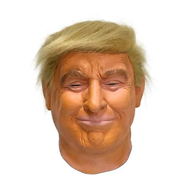 2019 Горячая продажа Высококачественная резиновая маска Реалистичная коробка подарок Вечерние платья на Хэллоуин Латекс Дональд маска Трампа