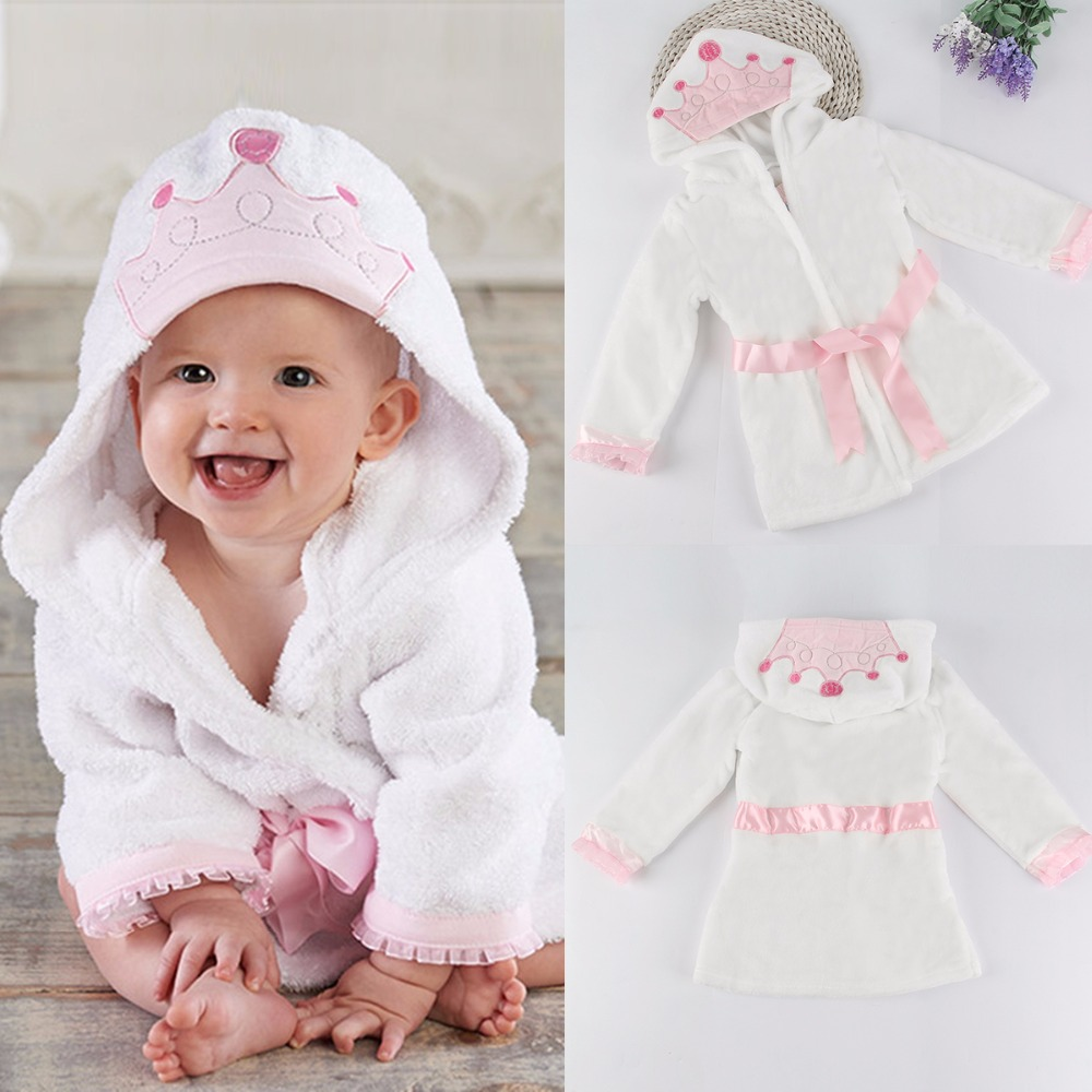 1ca0a71a81 Cute Baby Boys Girls Nightwear Hooded Bathrobe Bath Towel Bath Cute Terry  Bathing Robe Sleepwear Pjamas