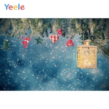 Yeele Winter Merry Christmas Party Tree Snow Light Bokeh Baby Photo Background Custom Photography Backdrop For Photo Studio kate blue snow photo backdrop christmas with trees bokeh light backdrops fotografia washable and seamless baby shower backdrop