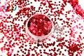TCM0304 Vino rojo Colores sensación metálica de Forma de Corazón 3.0 MM Tamaño Brillo para uñas tatto,, decoración de uñas de Arte gel