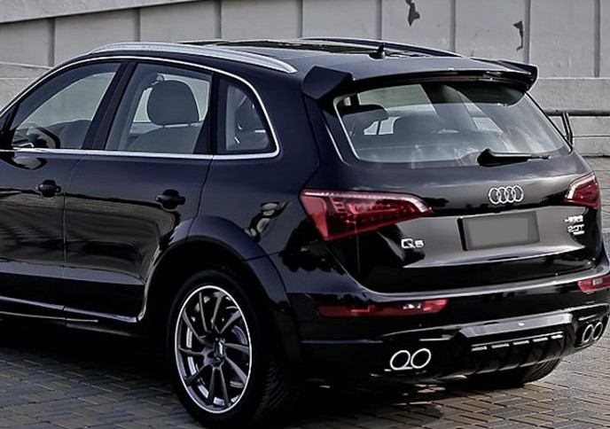 fit for audi q5 abt modified carbon fiber rear wing with. Black Bedroom Furniture Sets. Home Design Ideas