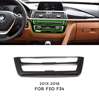 ANZULWANG Carbon Fiber Style Center Console Decoration Frame Trim For BMW 3 4 Series GT F30 F34 2013 2018 Car Accessory For LHD