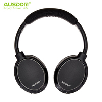 Ausdom M06 Over Ear Deep Bass Wireless Headphones Bluetooth Headset Earphones with Mic Soft Large Earmuffs Long Comfort NO Press