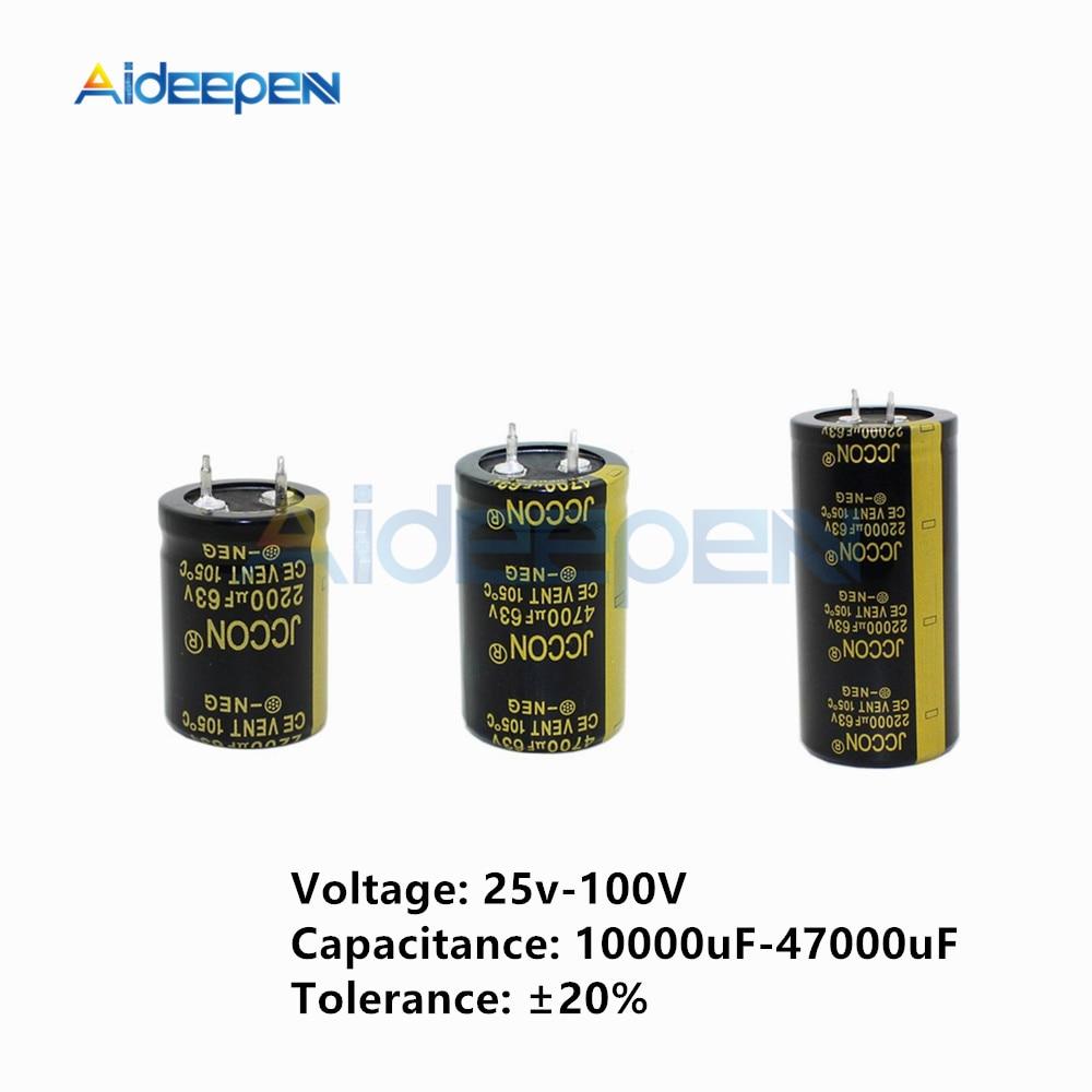 1pcs Aluminum Electrolytic Capacitor 25V 50V 63V 80V 100V 10000uF 15000uF 22000uF 47000uF