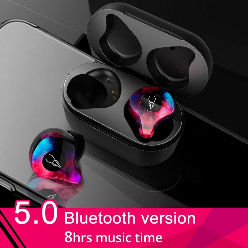 D'origine Sabbat écouteurs sans fil 5.0 écouteurs bluetooth Sport casque audio hifi Mains Libres Étanche écouteurs pour Samsung Téléphone