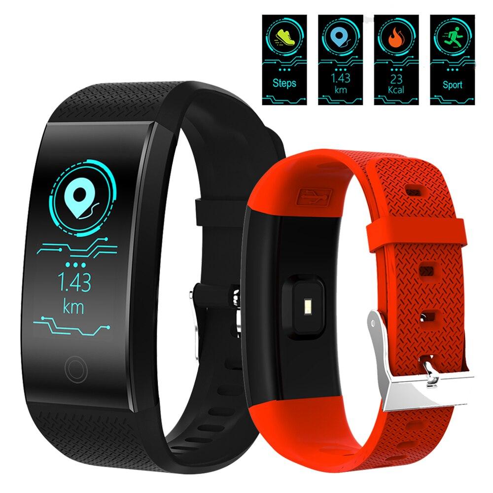 NOUVEAU Luxe de Fitness Montre smart électronique montre de sport hommes et femmes de LED fréquence cardiaque podomètre étanche IP67 smart bracelet