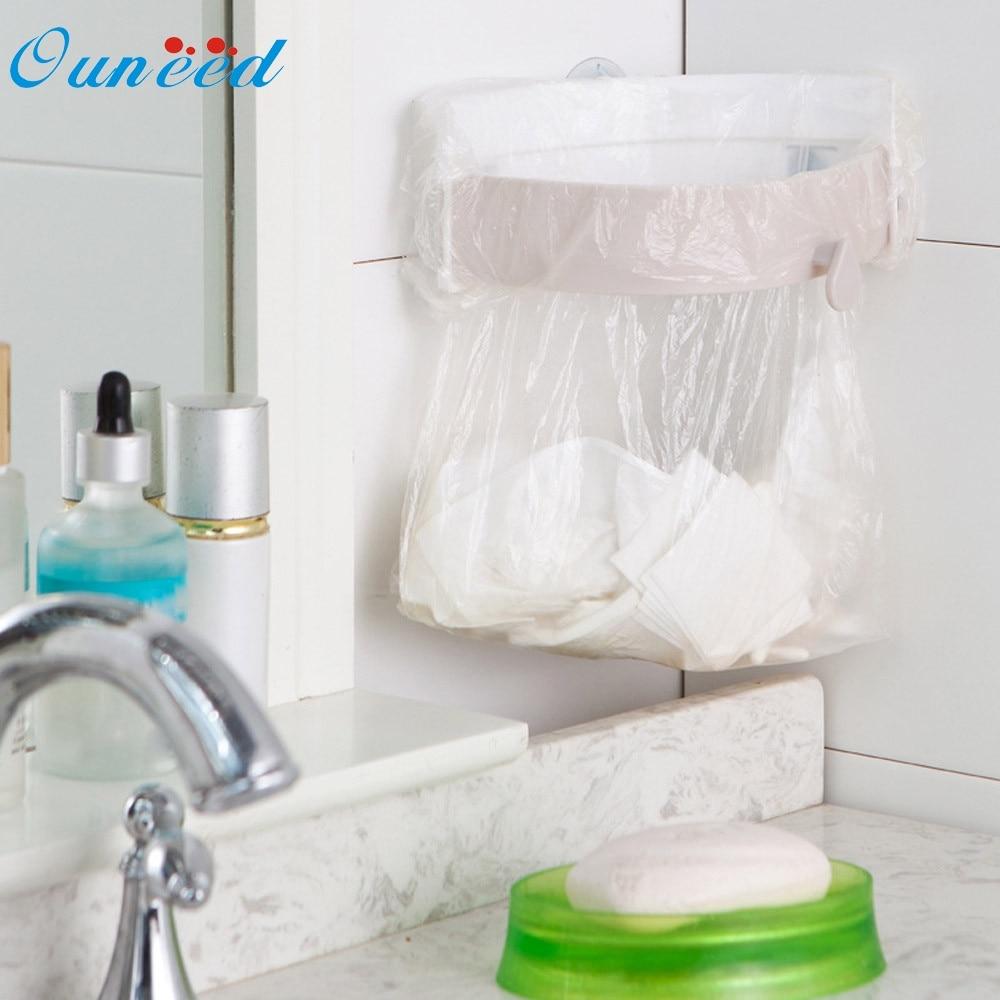 Ouneed organizer Hanging Kitchen Cabinet Door Trash Rack Style Storage Holder Garbage Bags u6912 rangement