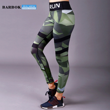 Sports Entertainment - Sportswear  - BARBOK Camouflage Yoga Pants Women Sports Leggings Fitness Woman Gym Clothes Yoga Sport Tights Sexy Running Tights Gym Leggings