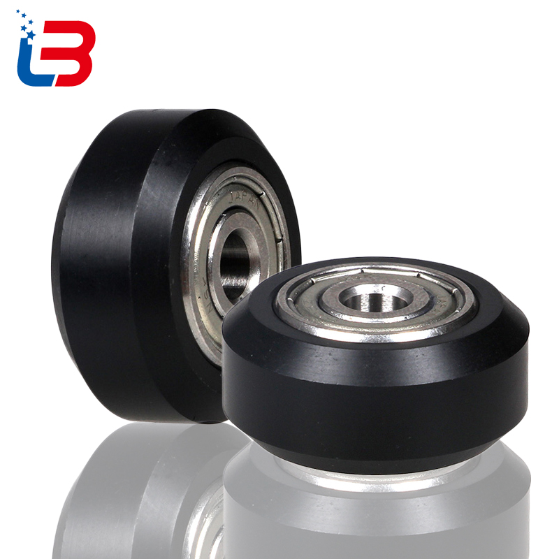 Tronxy printer accessories D-type pulley 3D PRINTER part plastic wheel with bearings 5pcs-lot