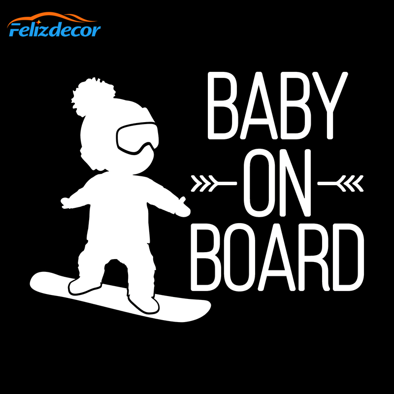 BABY ON BOARD Cool Baby with Sunglasses Car Decal Windshield Sticker Decoration