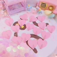 1pc cartoon pink cat Plastic Boxes display Dolls Jewelry Box home decoration for girls gifts