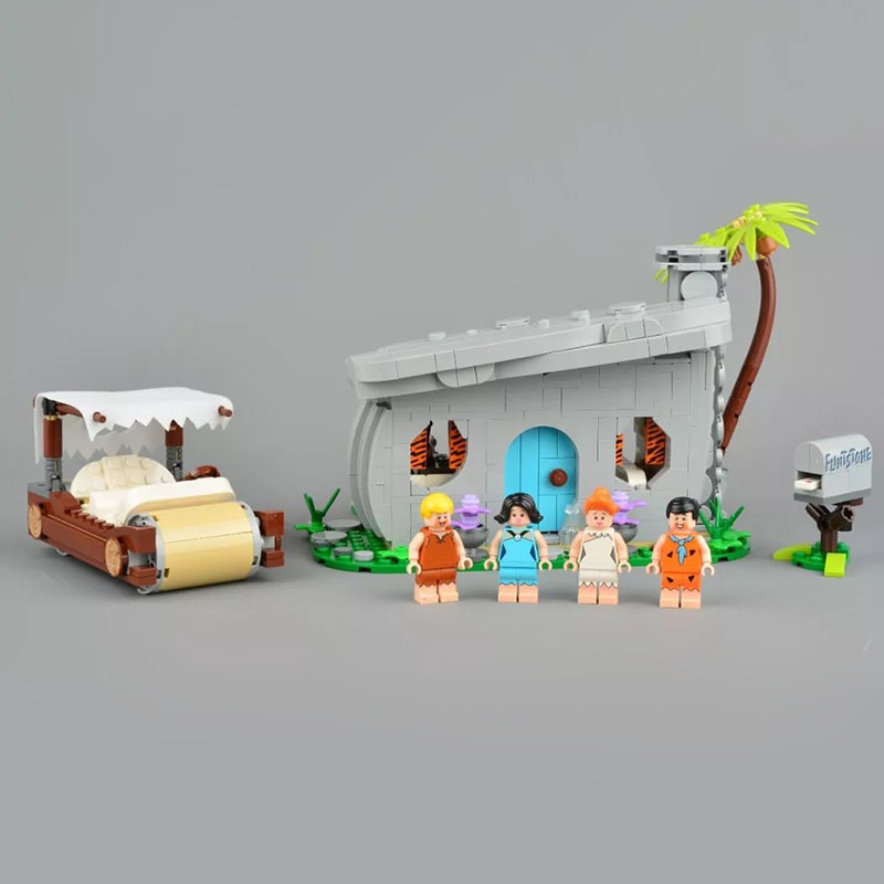 DHL 51001 The Flintstones Collectible Toys Competible With 21316 Model Blocks Bricks Educational Christmas Gifts Kids
