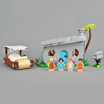 DHL 51001 وفلينستون النادرة لعب Competible مع 21316 نموذج كتل الطوب التعليمية هدايا عيد الميلاد لعب الاطفال
