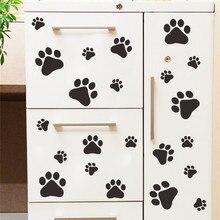 cartoon Dog Cat Walking Paw font b Print b font font b Wall b font font