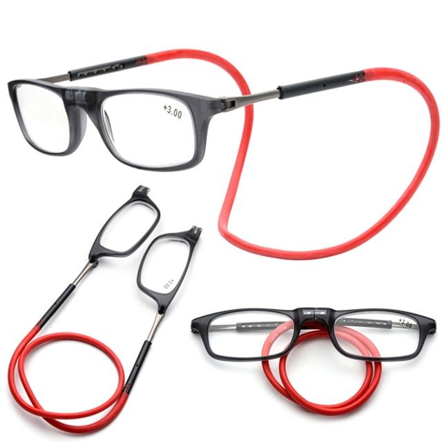 Magnet Reading Glasses Men Women Adjustable Hanging Magnetic Front Eyewear Hyperopia Presbyopia Reader presbyopic spectacles