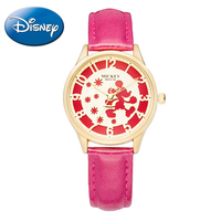Disney Walking Mickey Mouse Quartz Round Best Watches Girl Love Analog Fashion Casual women Watch Student Leather Band Hot Hour