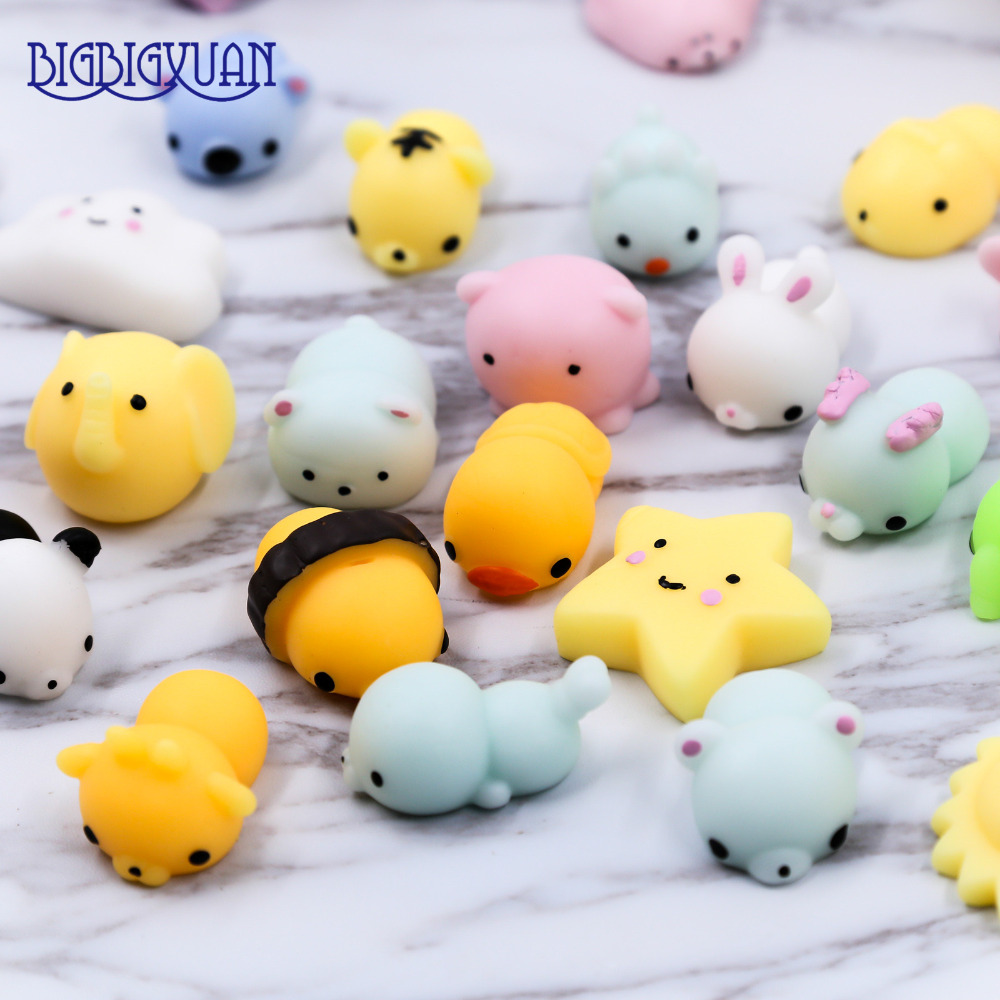Squishy Animals For Phone : 30/20/10Pcs DIY Soft Decompression Squishy Cell Phone Straps Cute Animals Fox Hippo Seal Clouds ...