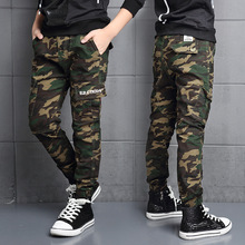 2017 Two Versions Spring boys Camouflage Pants Winter Children Fleece Lining Cotton Uniform Kids Military Army Trousers FH259