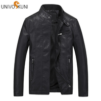 UNIVOS KUNI 2019 New Leather Suede Chaqueta Cuero Men Red Jacket Fur Strip Sewed Toghter Mens Brown Leather Bomber Jacket J451