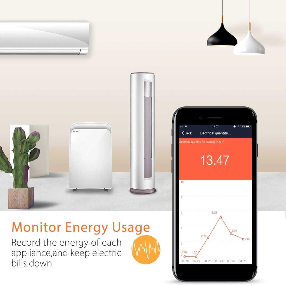 Lonsonho inteligentna wtyczka inteligentne gniazdo WiFi ue usa wielka brytania Australia wtyczki zasilania monitora działa z Google domu Mini Alexa IFTTT eWeLink