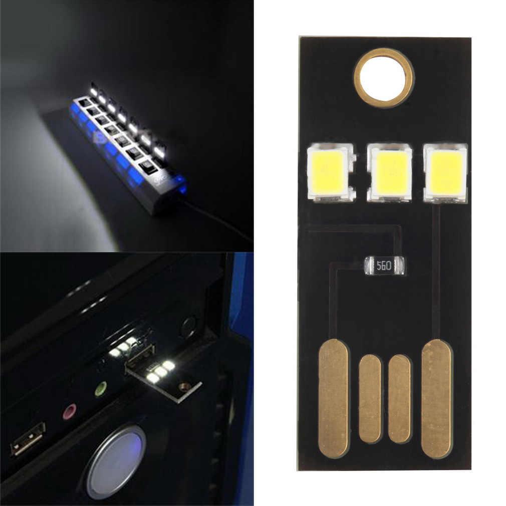 Mini USB puissance lumière LED ultra faible puissance 2835 puces poche carte lampe Portable nuit Camping équipement pour batterie externe ordinateur