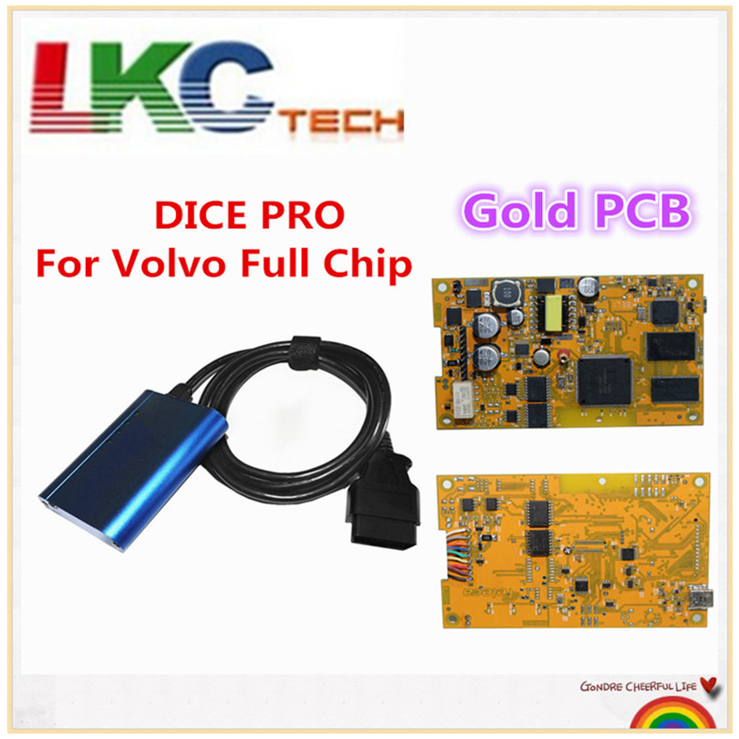 Newest Gold pcb Full Chip Vida Dice for Volvo VIDA DICE PRO 2014D Fimware Update&Self-Test For Volvo Scanner with Multi-Language obdtool excellent performance super for volvo vida dice pro newest 2014d vida dice pro diagnostic tool multi language