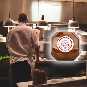 Image 4 - RETEKESS kablosuz çağrı sistemi restoran çağrı Beeper 1 izle alıcı + 1 düğmesi mutfak + 5 çağrı düğmesi müşteriler için